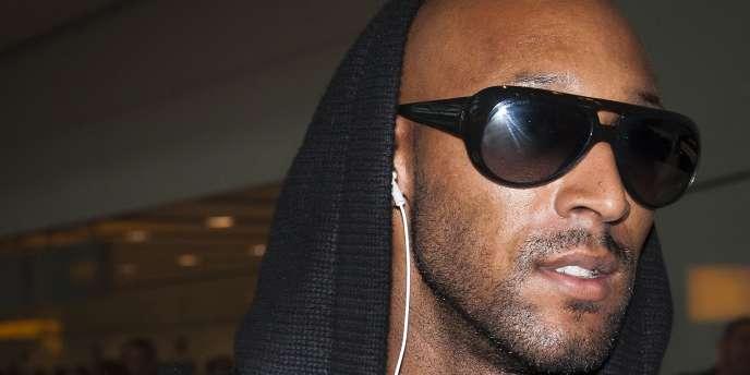 Nicolas Anelka à l'aéroport d'Heathrow, Londres, le 21 juin 2010.