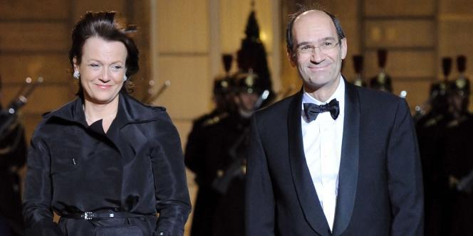 Florence et Eric Woerth à l'Elysée à Paris, le 2 mars 2010.
