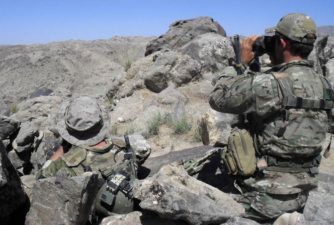 Photo non datée du ministère de la défense australien de soldats en Afghanistan.