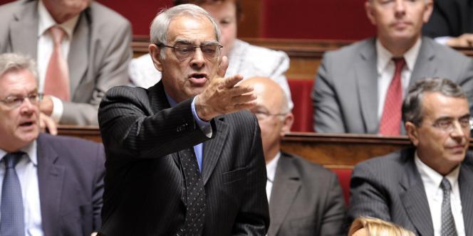 Le député PS Henri Emmanuelli, le 15 juin 2010 à l'Assemblée.