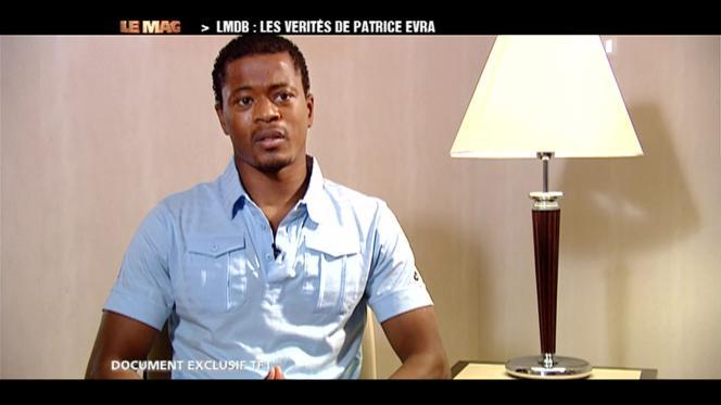 Le défenseur de l'équipe de France Patrice Evra lors de son interview à TF1, vendredi 25 juin (capture d'écran).
