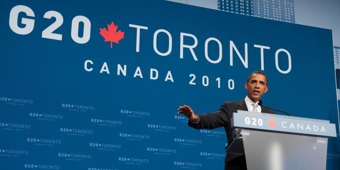 Barack Obama, au G20 de Toronto, le 27 juin 2010.