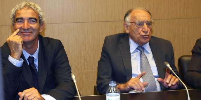 Raymond Domenech et Jean-Pierre Escalettes auditionnés par la commission des affaires culturelles de l'Assemblée nationale.