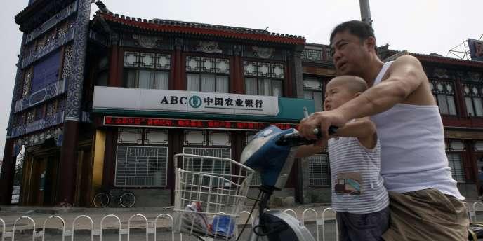 Une agence de la banque ABC à Pékin, le 18 juin.
