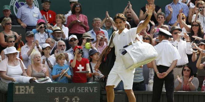 Roger Federer après son élimination à Wimbledon face à Tomas Berdych.