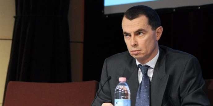 Jean-Pierre Mustier, ancien directeur des activités de marché à la Société générale, à Paris, le 24 janvier 2008.