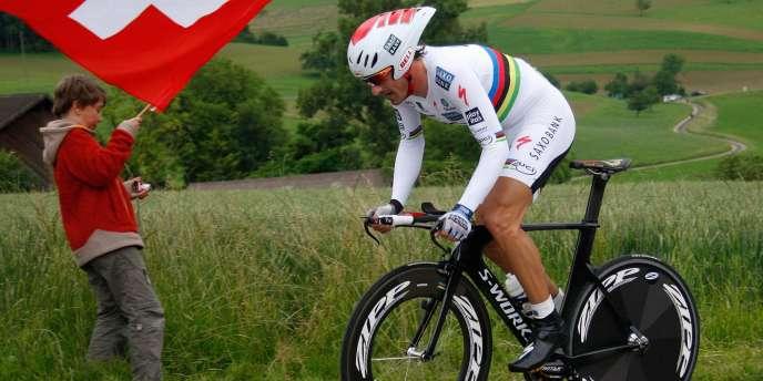 Fabian Cancellara dans le contre-la-montre du Tour de Suisse.