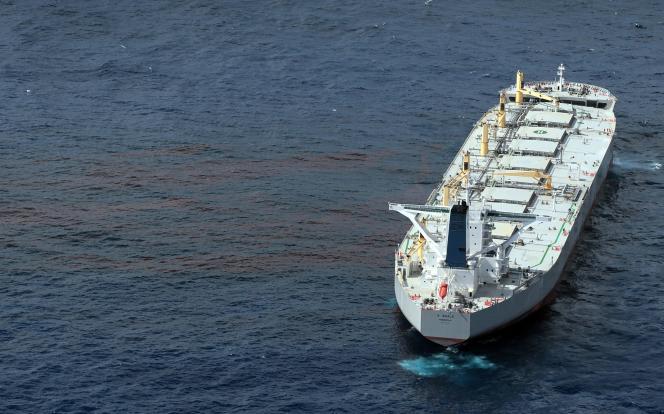 Photo du navire qui va s'attaquer à la nappe de pétrole qui souille le golfe du Mexique.