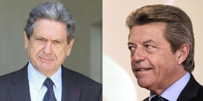 Christian Blanc (g), secrétaire d'Etat au Grand Paris, et Alain Joyandet, secrétaire d'Etat à la coopération, ont démissionné le 4 juillet du gouvernement.