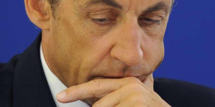 Le président Nicolas Sarkozy à Brie-Comte-Robert, mardi 6 juillet.