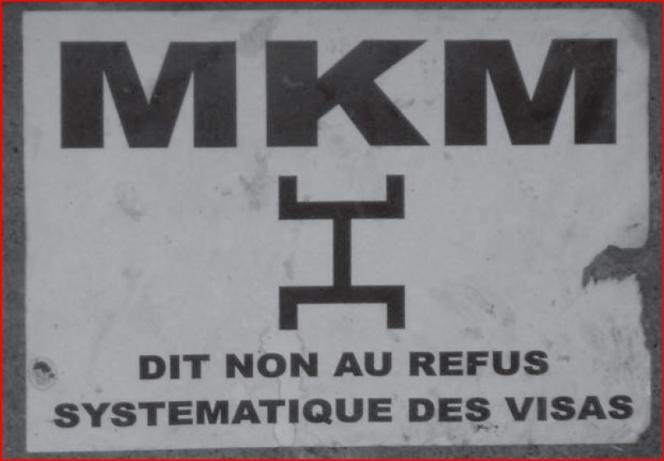 Campagne d'affichage dans les rues de Bamako.