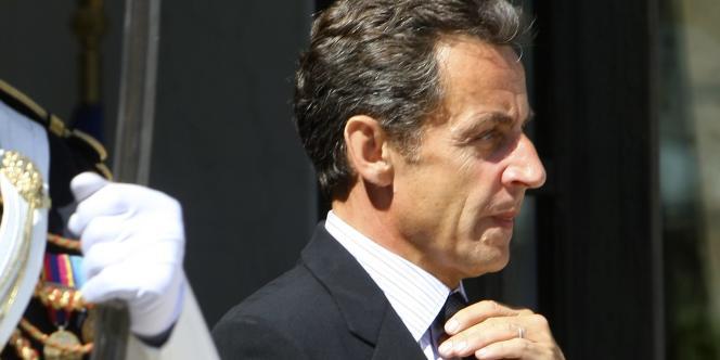 Le président de la République, Nicolas Sarkozy, à l'Elysée, le 8 juillet 2010.