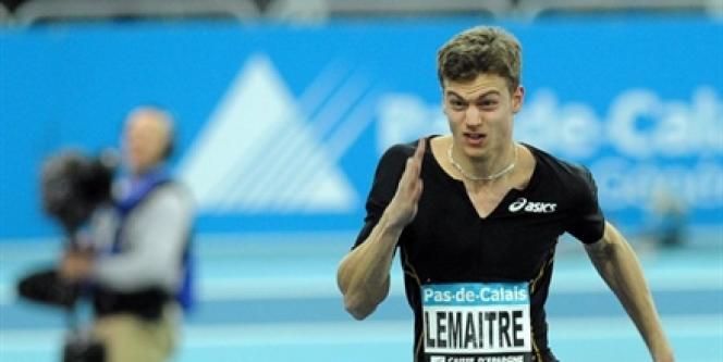 Christophe Lemaitre, le 5 mars 2010 à Liévin.