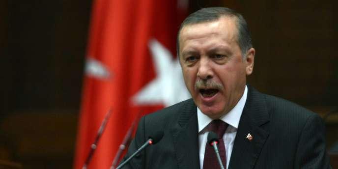 Le premier ministre turc Recep Tayyip Erdogan lors d'un discours au Parlement turc à Ankara, le 29 juin 2010.
