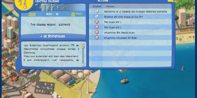 Capture d'écran de Clim' City.