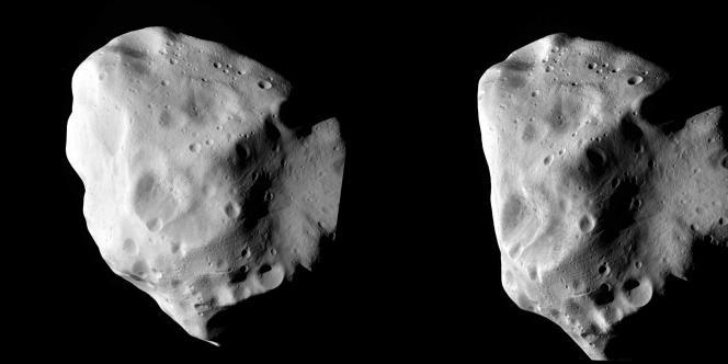 Différentes vues de l'astéroïde Lutetia.