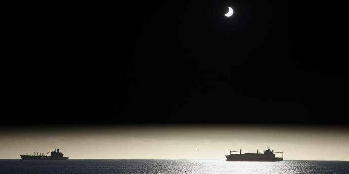 L'éclipse vue de Valparaiso, au Chili.