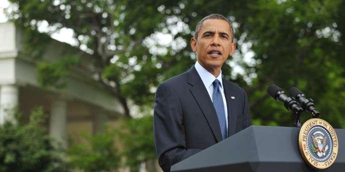 Barack Obama lors d'une conférence de presse, le 15 juillet. Le président américain a décidé de lancer une tournée dans différents Etats du pays pour expliquer sa politique économique, mal perçue par l'opinion.