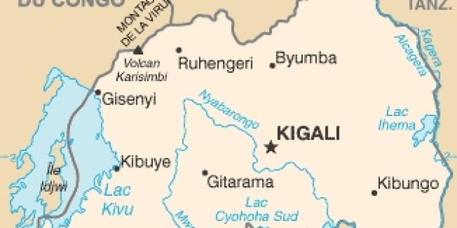 Carte du Rwanda.