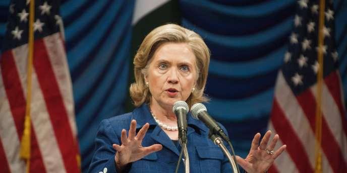 La secrétaire d'Etat américaine Hillary Clinton , à Islamabad en juillet.