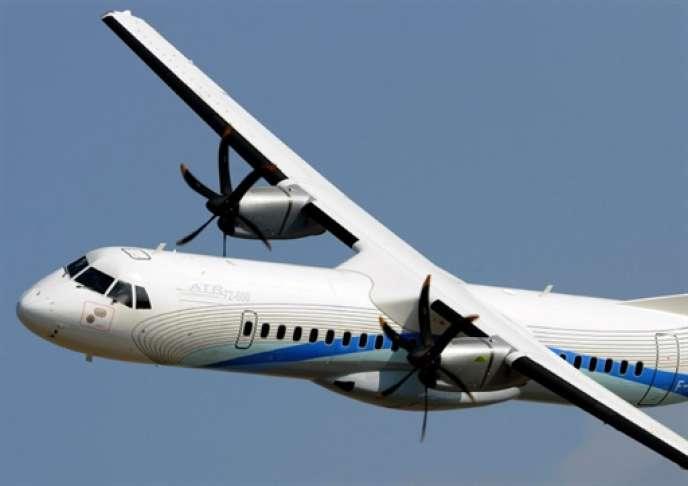 Un appareil de la compagnie ATR, filiale commune d'Airbus et de Finmeccanica.