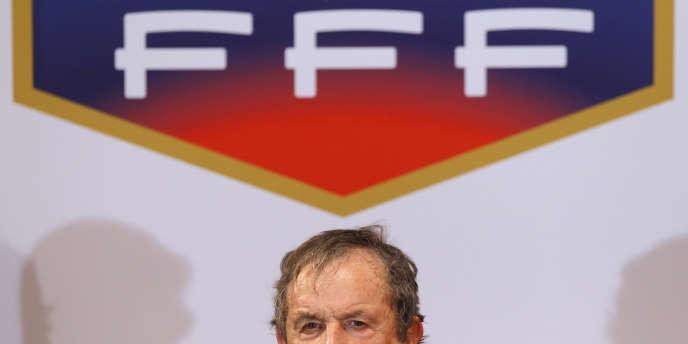 Fernand Duchaussoy à la Fédération française de football le 2 juillet.
