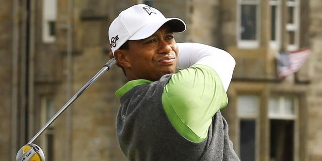 Tiger Woods lors de l'Open de St Andrews le 16 juillet.