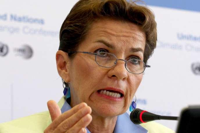 La secrétaire exécutive de la Convention cadre des Nations unies sur le changement climatique (CCNUCC), Christiana Figueres.