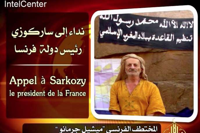 Capture d'écran d'un appel de Michel Germaneau à Nicolas Sarkozy, diffusé le 13 mai 2010 par les ravisseurs de l'otage français.