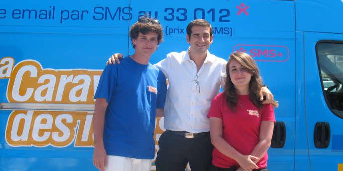 Benjamin Lancar (au centre), président sortant des