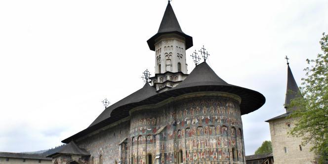 Église de la Résurrection du monastère de Sucevi'a, en Roumanie.