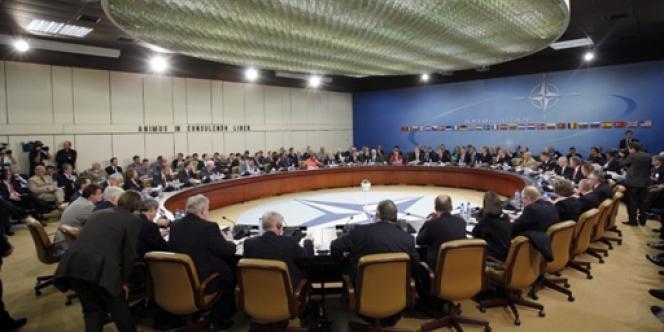 Le siège de l'OTAN, dans la banlieue de Bruxelles, le 10 juin.