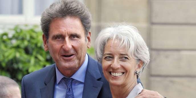 Christine Lagarde et son compagnon, Xavier Giocanti, le 14 juillet 2008.