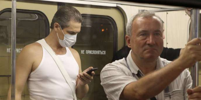 Les fumées des feux de forêt et de tourbières s'est même glissée dans le métro moscovite.