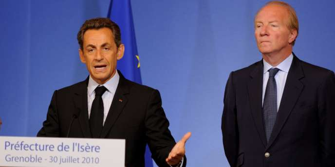 Nicolas Sarkozy et Brice Hortefeux, le 30 juillet 2010 à Grenoble.