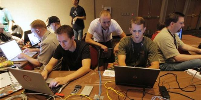 Une réunion de hackers à Las Vegas.