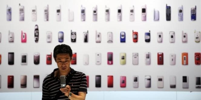 Au salon Mobile Tide, en 2010, à Tokyo.
