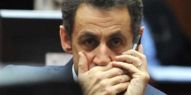 Le président de la République, Nicolas Sarkozy.