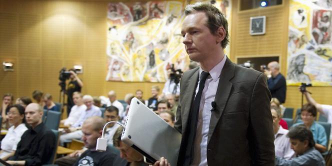 Le fondateur de WikiLeaks, Julian Assange, le 14 août à Stockholm.