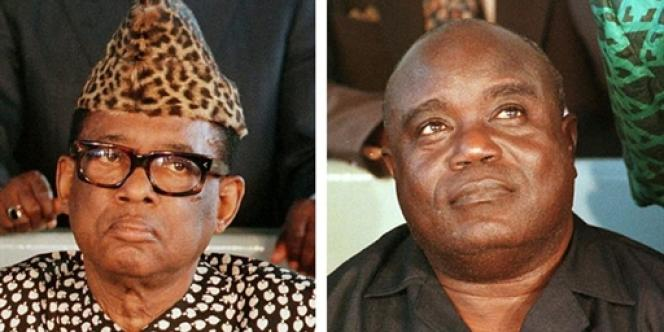 Mobutu Sese Seko (à gauche) et Laurent-Désiré Kabila.