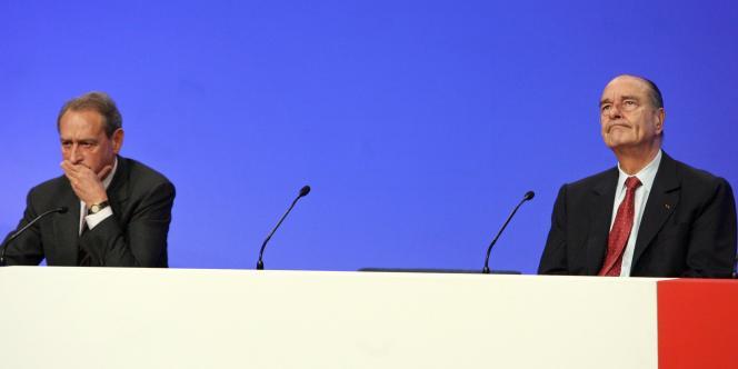Jacques Chirac et Bertrand Delanoë, le 21 novembre 2006 à Paris.