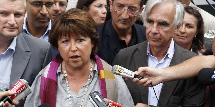 La première secrétaire du PS, Martine Aubry, le 27 août à La Rochelle.