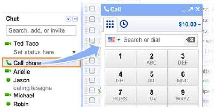 Google Voice, le service de téléphonie de Google.