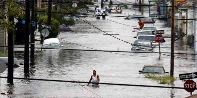 Le 29 août 2005 à la Nouvelle Orléans, après l'ouragan Katrina.