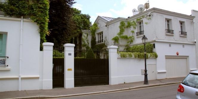 Le domicile de Liliane Bettencourt, à Neuilly-sur-Seine