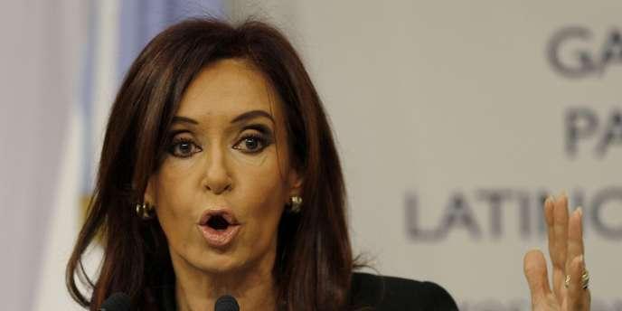Cristina Kirchner, présidente de la République argentine.