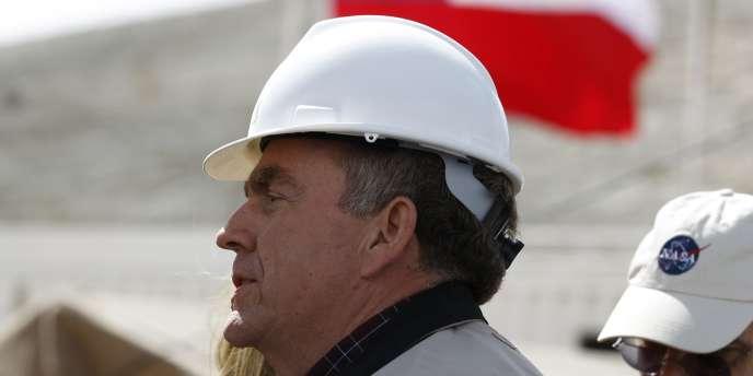 Michael Duncan, le médecin à la direction des Sciences de la vie dans l'espace de la NASA aux abords de la mine de San José, au Chili.