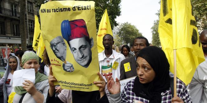 Manifestation contre la politique du gouvernement, le 4 septembre 2010, à Paris.