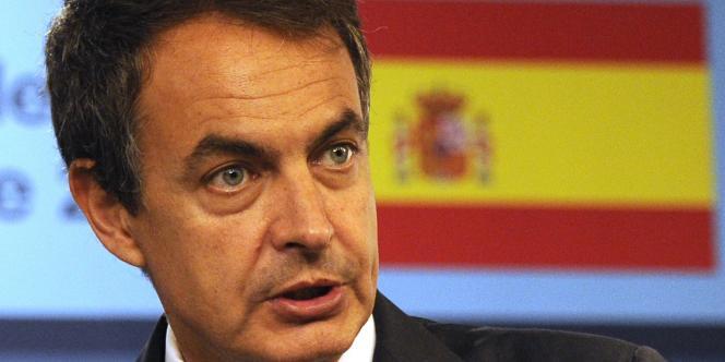 Le premier ministre espagnol José Luis Rodriguez Zapatero à Madrid en septembre 2010.