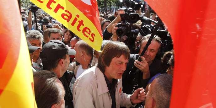 Bernard Thibault (CGT) à Paris, mardi 7 septembre.